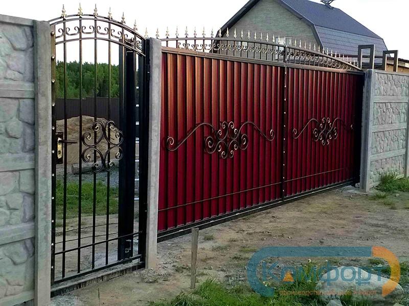 Откатные ворота кировский район ступино профиль для откатных ворот