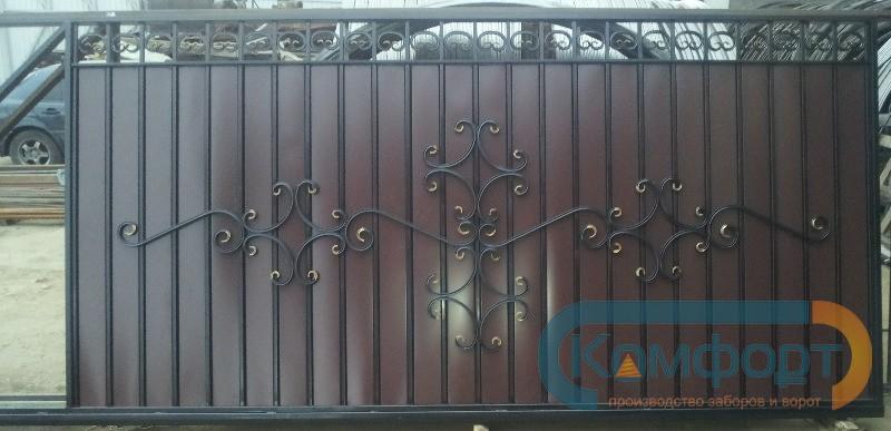 Кованые откатные ворота чертежи фото и видео